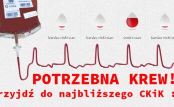 Potrzebna krew! RCKiK.