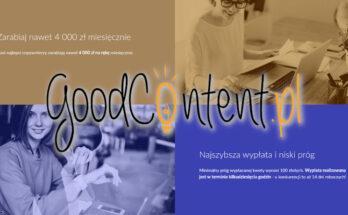Copywriting dla GoodContent, jako sposób na zarabianie online.